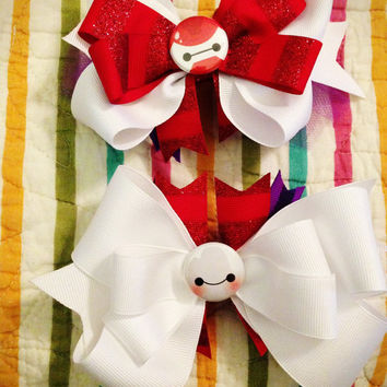 Baymax bow. Back to school. Birthday. Halloween. Geek. Gamer girl. Disney bound. Disney bow.