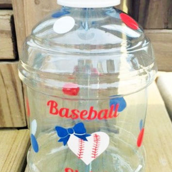 Baseball Sister Water Bottle, Baseball Sister Gift, Baseball Accessories, Softball Water Bottle