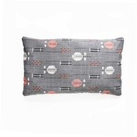 Grey white peach ikat Vintage Decorative Pillow Cover. by project sarafan
