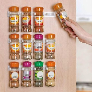 Spice clips Organizer Rack Spice Rack Storage Wall Rack 12 Cabinet Door Spice Clips Spice Rack Kitchen 3PCS SET