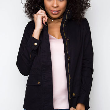 Military Jane Jacket - Black