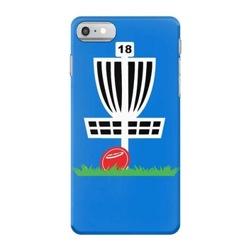 disc golf frisbee leaning on target basket innova iPhone 7 Case