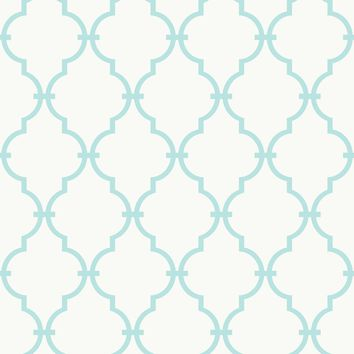 "Morrow 15' x 6"" Trellis Wallpaper Roll"