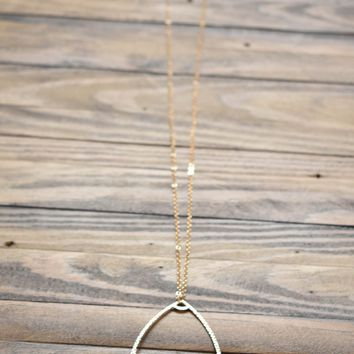 Pearl Teardrop Necklace, Gold