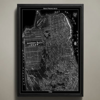 Map Print, SAN FRANCISCO