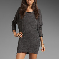 291 Tweed French Terry Seamed Dolman Dress in Black from REVOLVEclothing.com