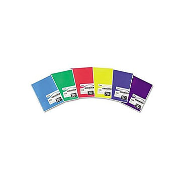 Mead Spiral Notebook, College Ruled, 1 Subject, 70 Sheets, 10.5 x 7.5 Inches, Assorted Colors (05512)
