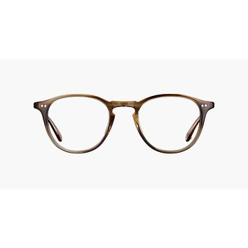 Garrett Leight Hampton 44mm Khaki Tortoise Eyeglasses / Demo Lenses