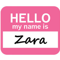 Zara Hello My Name Is Mouse Pad