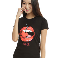 DNCE Cherry Red Mouth Girls T-Shirt