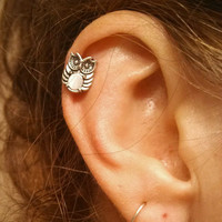 Owl Surgical Steel Cartliage Earring Piercing
