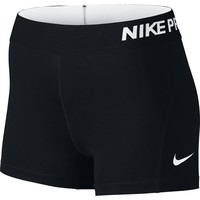 "Women's Nike Pro Cool 3"" Short Black/White Size X-Large"