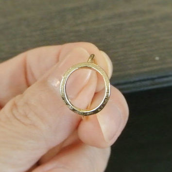 Karma Ring/ Simple Open Circle Rings/ Eternity Rings
