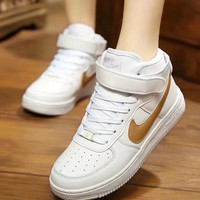 """""""Nike Air Force 1"""" Unisex Sport Casual High Help Shoes Sneakers Couple Plate Shoes"""
