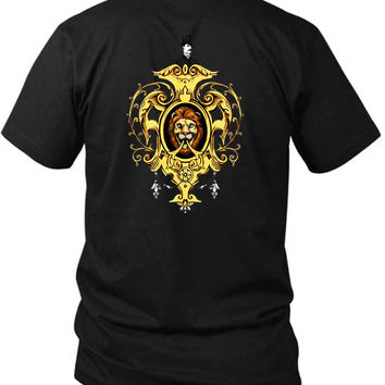 Mumford And Sons Lion Logo With Men 2 Sided Black Mens T Shirt
