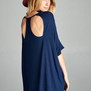 V-neck Cutout Detail Top