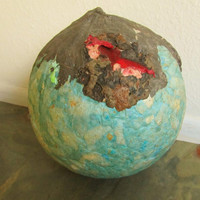 Sphere - Repurposed Art - Volcanic Medicine Ball