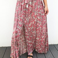Next To You Skirt: Mauve/Multi