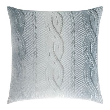 Mineral Cable Knit Velvet Pillows by Kevin O'Brien Studio