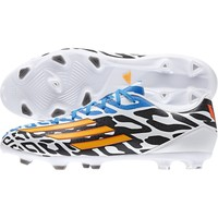 adidas Men's F10 Messi FG Soccer Cleat - White/Black/Blue | DICK'S Sporting Goods