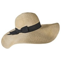 Merona® Floppy Hat with Black Bow Sash - Tan