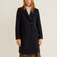 Masculine structured coat - Women | Mango United Kingdom