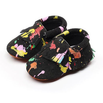 Painted- Baby Moccasins