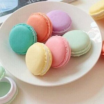 Super Cute 8Colors - Lowest Pirce Macaron Cake Design Little Coin BOX Pouch , 4CM Pill Box Coin BAG CASE