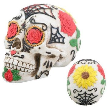 Tattoo Sugar Skull Statue, Day of the Dead 5.25L - T81490