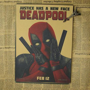 Posters Deadpool Deadpool Marvel superhero Meng cheap decorative sticker Ryan Reynolds Movies & Videos