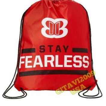 NEW! OFFICIAL WWE NIKKI BELLA STAY FEARLESS DRAWSTRING  BAG. BACKPACK USA SELLER