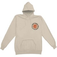 Red Hot Chili Peppers Men's  Washed Out Asterisk Hooded Sweatshirt Cream