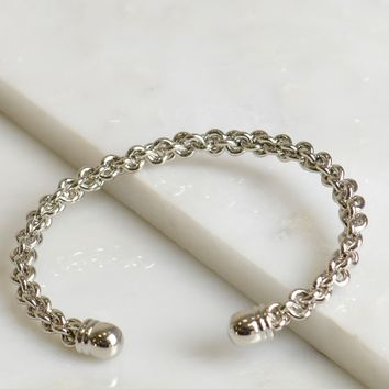 Braided Chain Bracelet Silver