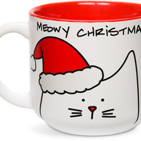 Meowy Christmas Cat Coffee Mug
