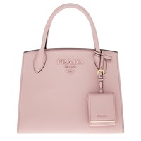 Prada Women's Monochrome Saffiano Leather Bag Pink