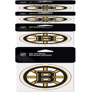 """BOSTON BRUINS PERFECT CUT 4""""X4"""" DIE CUT DECAL NEW & OFFICIALLY LICENSED"""