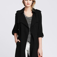 Banana Republic Womens Drapey Trench