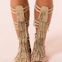 Galveston Gladiator Sandals in Taupe