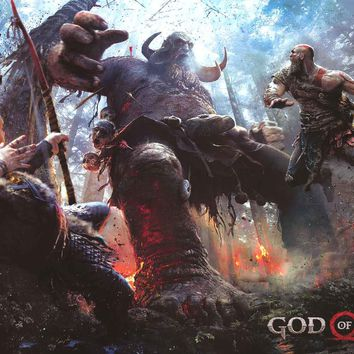 God of War Video Game Poster 24x36