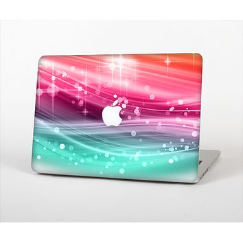 The Vibrant Multicolored Abstract Swirls Skin Set for the Apple MacBook Pro 13""
