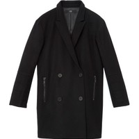 Tibi Sculpted Coat w/ Quilted Paneled Back - ShopBAZAAR