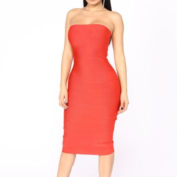 Scarlette Bandage Dress - Red