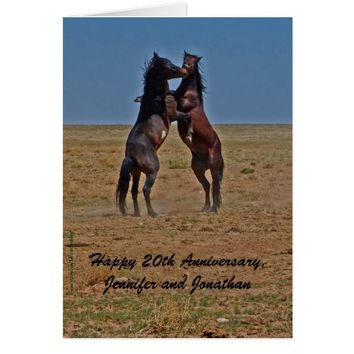 20th Anniversary Dancing Horse Click Up Your Heels Card