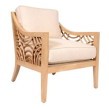 Manhattan Lounge Chair, Almond/Sand - Accent Chairs - Chairs - Living Room - Furniture | One Kings Lane