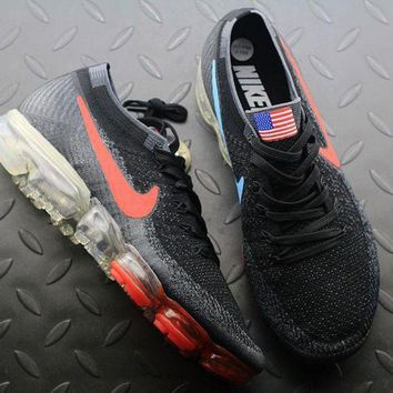PEAPUX5 Nike Air VaporMax Vapor Max 2018 Flyknit Men American Flag Sport Running Shoes 849558-018
