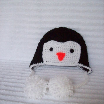 Baby Penguin hat, newborn penguin hat, crochet penguin hat, photo prop, penguin hat, penguin beanie, baby penguin beanie, baby boy hat