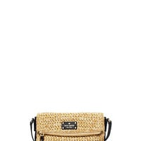 Kate Spade Cobble Hill Straw Mini Carson Natural/Black ONE