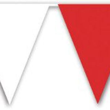 red & white pennant banner Case of 12