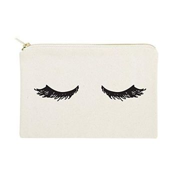 Closed Eyelashes Cosmetic Bag and Travel Make Up Pouch