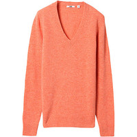 WOMEN SOFT LAMBSWOOL V NECK SWEATER